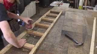 Make a reclaimed wood ladder - library part 4