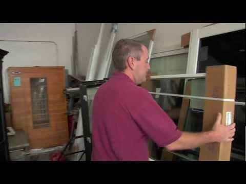 Naples Windows & Doors Owner, Jim Baker, Unloading PGT Truck