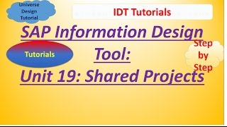 SAP IDT Unit 19 :Shared Projects: Tutorial