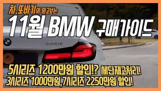 2020년11월 BMW 프로모션&할인금액 차량구…