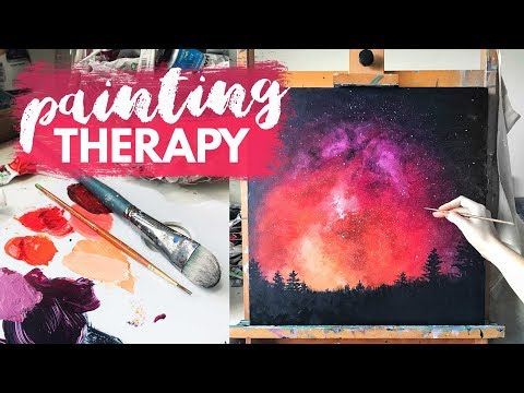 Depression | Art Therapy Painting Tutorial [REAL TIME]
