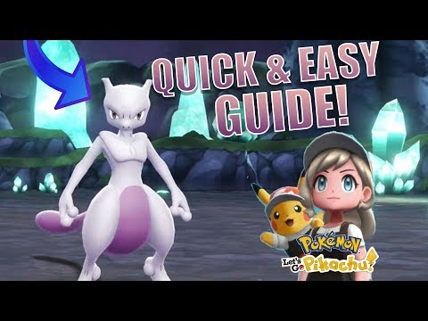 CATCH MEWTWO IN Pokemon Let's Go Pikachu and Eevee