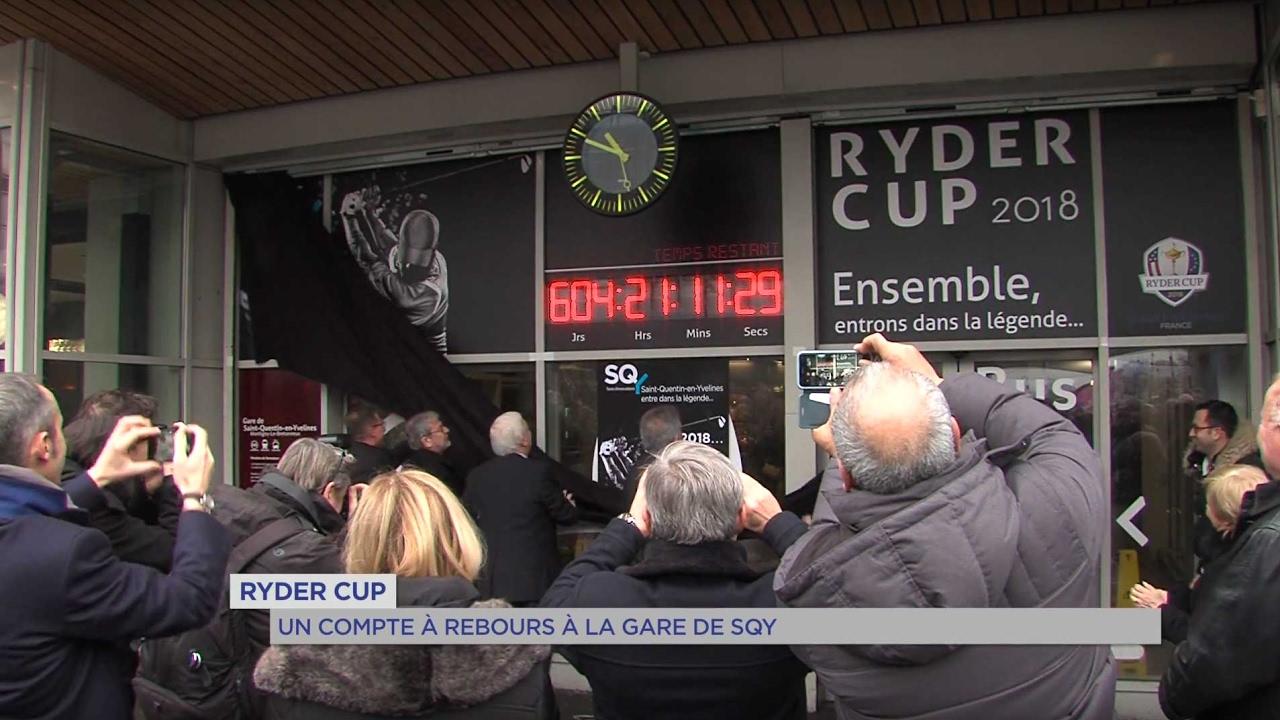 Ryder Cup : un compte à rebours à la gare de Saint Quentin en Yvelines