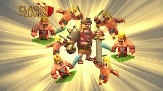 200 LEVEL 4 Barbarians | Clash Of Clans Attacks | One Man Army