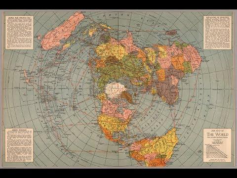 Le mappe Azimutali della terra piatta:  Gleason, Seconda Guerra Mondiale e del 1.587