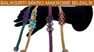 Herringbone micro macrame bracelet