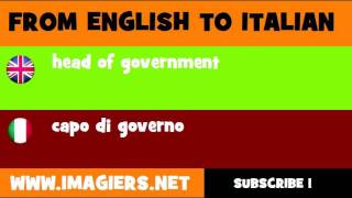 FROM ENGLISH TO ITALIAN = head of government