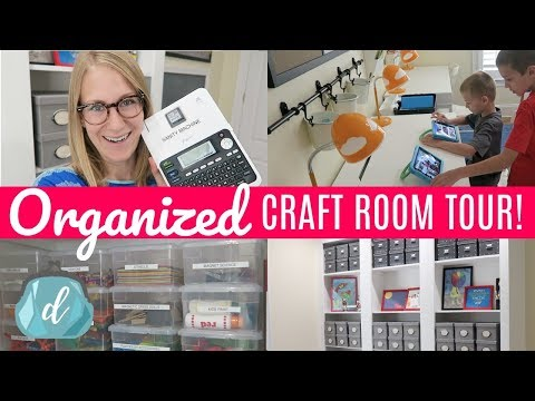 Budget Craft Room Organization Ideas | Back to School Room Tour & Makeover!!