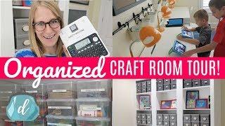 Budget Craft Room Organization Ideas | Back to School Room Tour u0026 Makeover!!