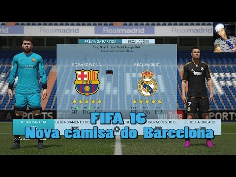 FIFA 16 (PS4)-Novo Uniforme do Barcelona Update 1.03