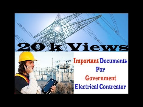 Electrical Contractor  licence process in india.