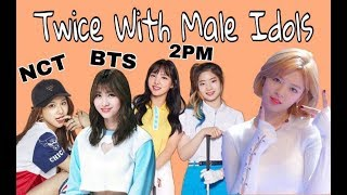 Twice with male idols