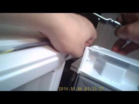 Перевесить дверь своими руками на холодильнике Hotpoint Ariston