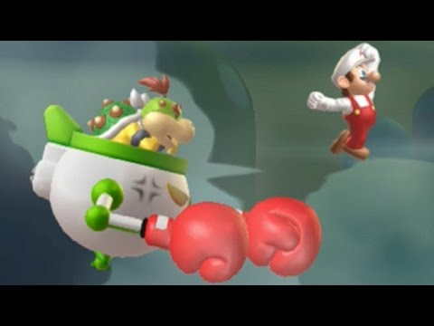 New Super Mario Bros U - All Tower and Airship Bosses