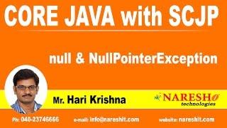 NULL & NullPointerException | Java Tutorial   | By Mr.Hari Krishna
