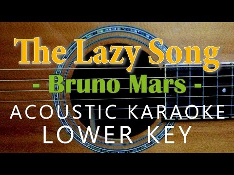 The Lazy Song - Bruno Mars [Acoustic Karaoke | Lower Key]
