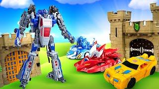 Игры Трансформеры - Монкарты и Автоботы против Десептиконов! – Машинки в видео для мальчиков.