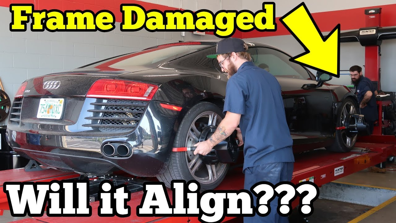 can-a-salvage-supercar-with-frame-damage-be-aligned-let-s-find-out-on-my-audi-r8
