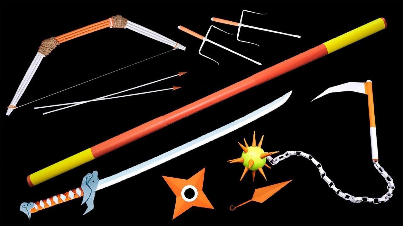 08 Strongest NINJA WEAPON || STAFF /KATANA /BOW /NINJA STAR /KUNAI
