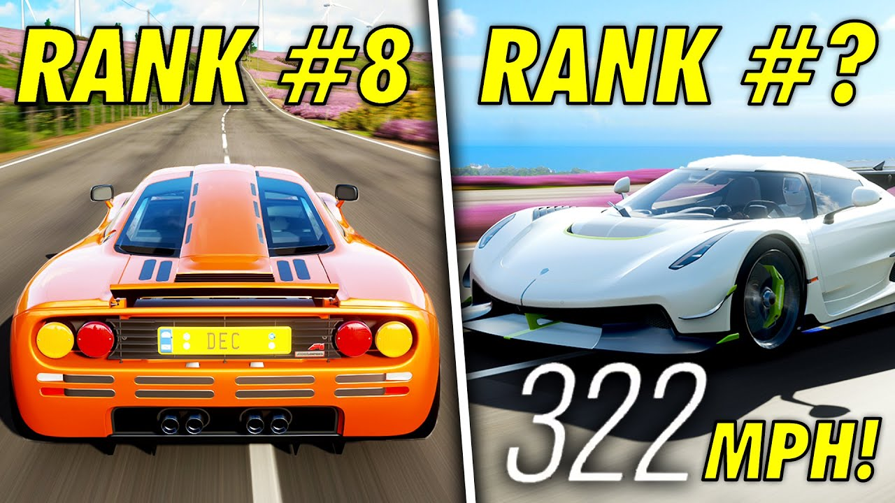 Top 10 FASTEST Cars In Forza Horizon 4 In 2021!