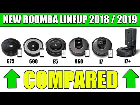 New Roomba Models Compared I7 Vs I7 Vs 675 Vs 690 Vs E5 Vs 960 Vs 980 Youtube