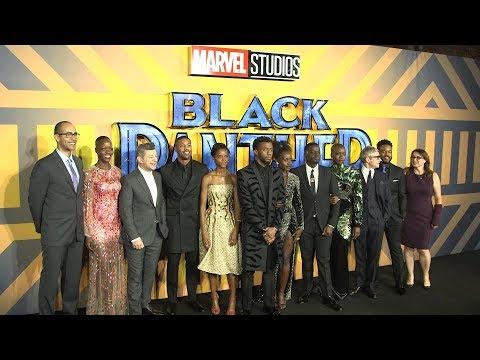 Black Panther European Premiere Red Carpet - Chadwick Boseman, Michael B. Jordan, Letitia Wright