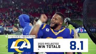 Cynthia Frelund Early Predictions 2020-2021 | NFL