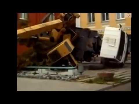รถเครนล้ม รถเครนคว่ำ รถเครนอุบัติเหตุ สำหรับสอนพนักงานเอสพีเค05