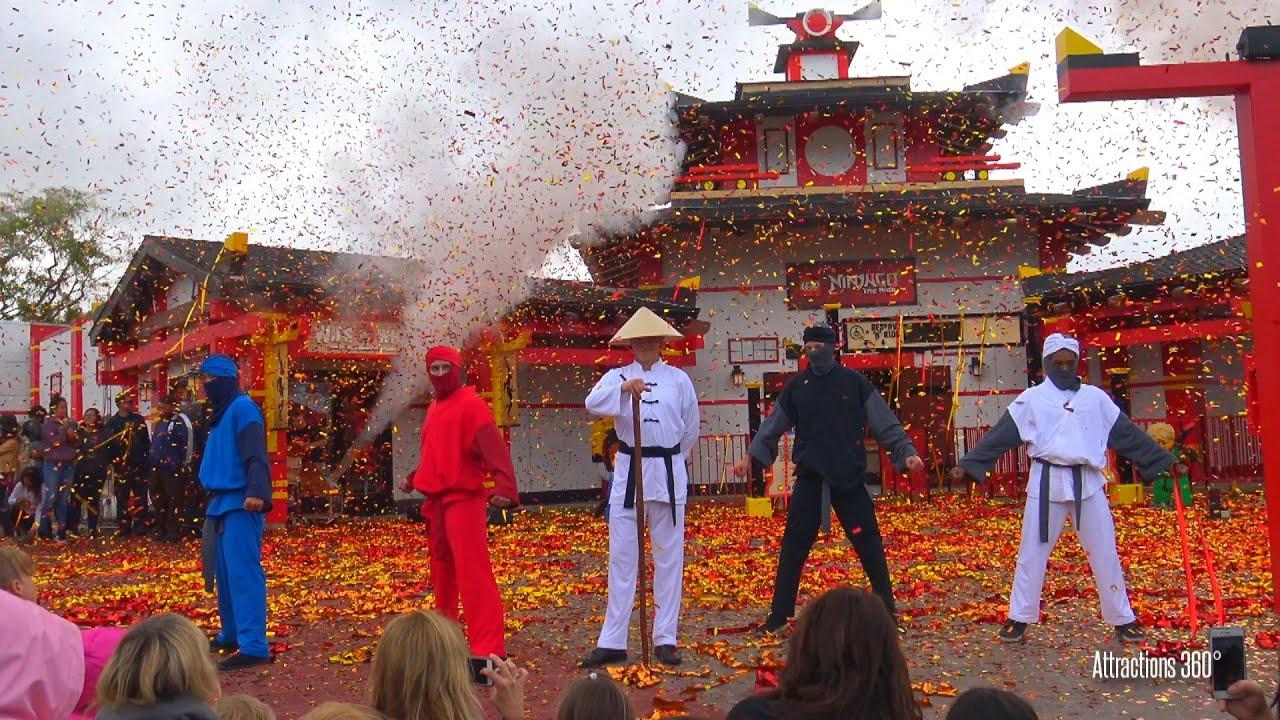 4k ninjago world opening ceremony at legoland california
