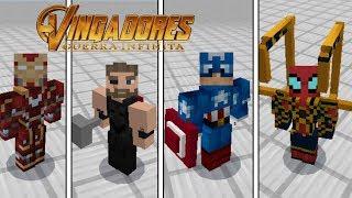 SAIU!! SKIN 4D DOS VINGADORES GUERRA INFINITA NO MINECRAFT PE ! (Minecraft Pocket Edition)