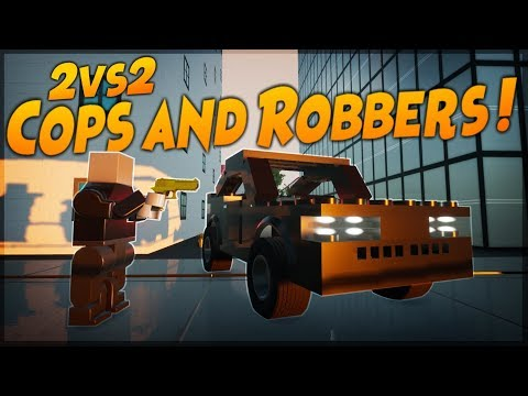 2VS2 COPS AND ROBBERS! - Brick Rigs Multiplayer Gameplay Challenge
