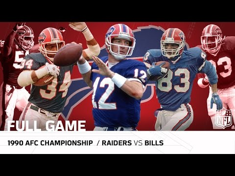1990 AFC Championship: Bills Clinch 1st Super Bowl Appearance | Raiders vs. Bills | NFL Full Game
