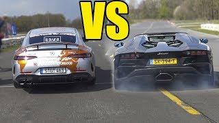 LAMBORGHINI AVENTADOR S vs MERCEDES AMG GT 63 s - 😱AMG WON?😱