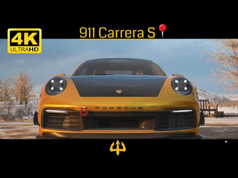 ROAD Testing on SNOW with Porsche 911 CARRERA S   FH4 Gameplay 4K