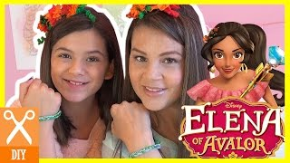 DISNEY PRINCESS ELENA OF AVALOR! DIY! HOW TO MAKE HER BRACELET AND FLOWER CROWN! | KITTIESMAMA