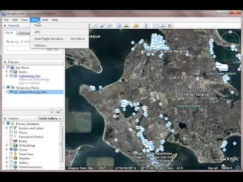 Online Mooring - Using GPS with Google Earth