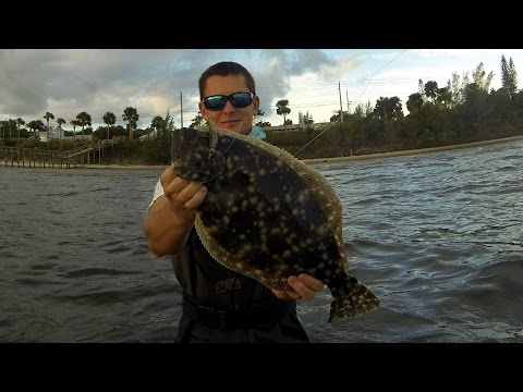 Wade Fishing the Indian River (Flounder Surprise!!)