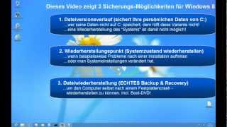 Windows 8 - Backup & Recovery (Sicherung - Image - Systemabbild - Dateiversionsverlauf)