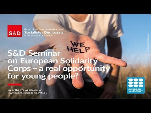 European Solidarity Corps - a real opportunity for young people ? - EN