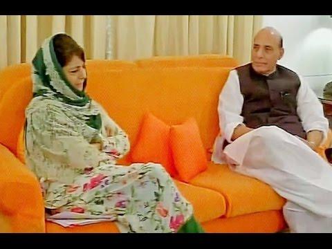 Mehbooba Mufti Meets HM Rajnath Singh Over Kashmir Unrest