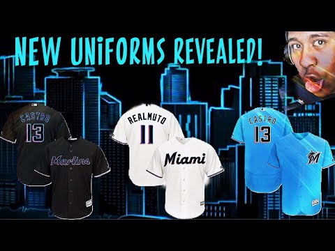 MIAMI MARLINS  NEW UNIFORM REVEALED!! MARLINS FAN REACTS! - YouTube cc6171d43