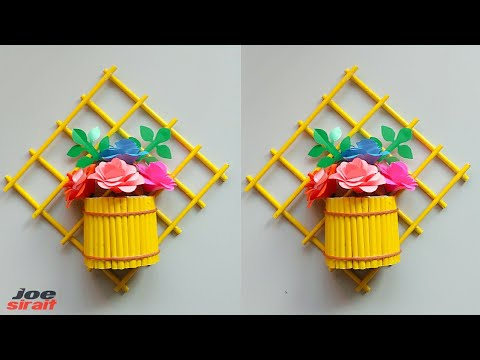 Easy Wall Decoration Ideas - Paper Flower Wall Hanging  - Paper Craft