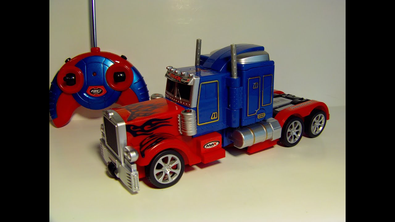 80f541a7ce7 TRANSFORMING RC OPTIMUS PRIME REMOTE CONTROL TOY ROBOT TRUCK REVIEW ...