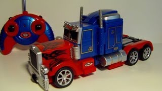 TRANSFORMING RC OPTIMUS PRIME REMOTE CONTROL TOY ROBOT TRUCK REVIEW