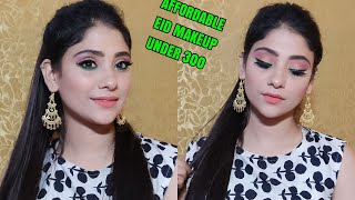 EID MAKEUP TUTORIAL UNDER 300Rs || #EIDMUBARKA SERIES || SHYSTYLES