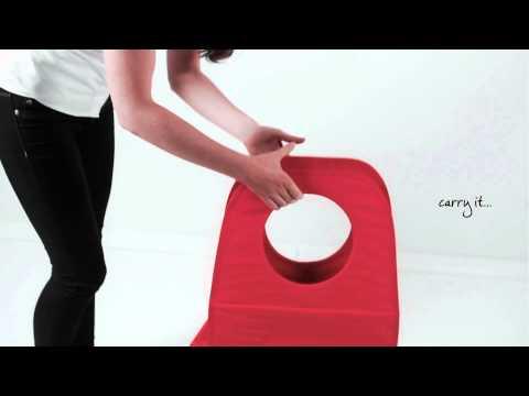 Brabantia Rectangular Portable Laundry Basket and Bag