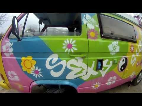VW T3 Hippy Hippie Van Bus, Westfalia Sexy Furgo