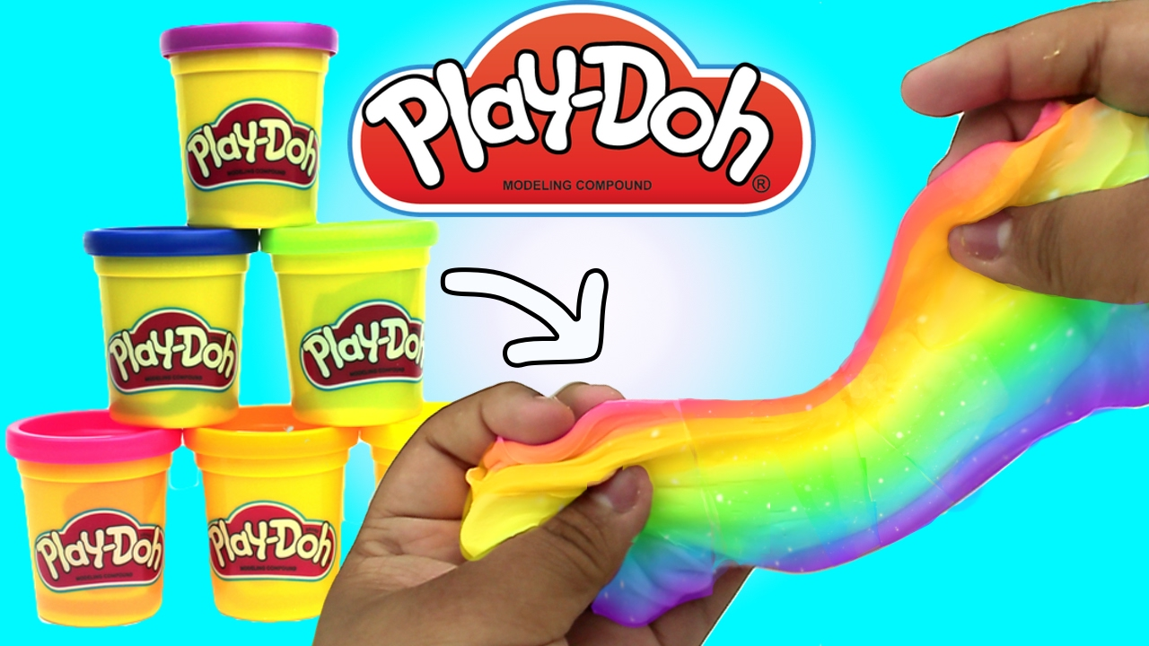 Diy  Rainbow  Playdoh Slime  How To Make Slime Out Of Playdoh !!! +  Asmr!