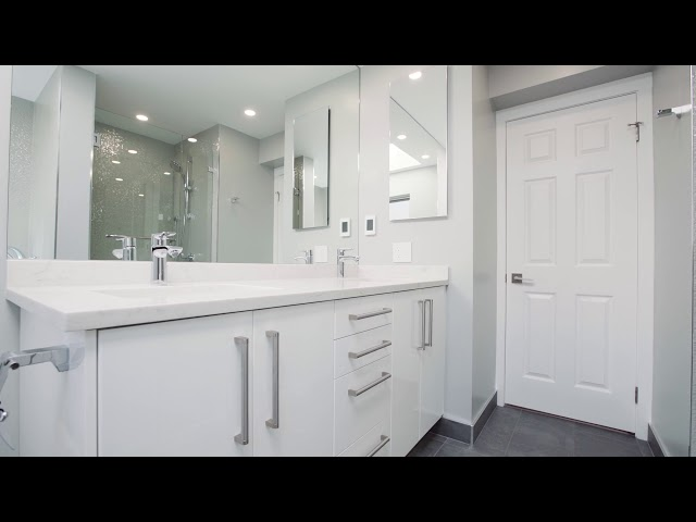 Two bathrooms built by Unipro Renovation