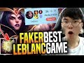 is this the Best Faker Leblanc's Game? - SKT T1 Faker Picks Leblanc Mid! | SKT T1 Replays